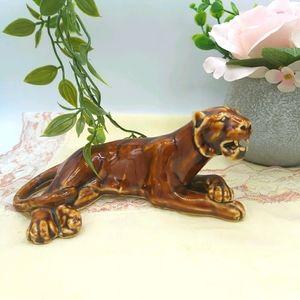 Retro Art Deco MCM Ceramic Tiger Figure
